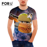 Men Breathable Slim Fit Cat T-Shirt - Cats Love Life
