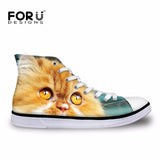 Classic High Top Casual Women's Canvas Lace-up Shoes - Cats Love Life