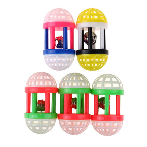 Pack Of Five Interactive Cat Toy Rolling Bell In A Ball - Cats Love Life