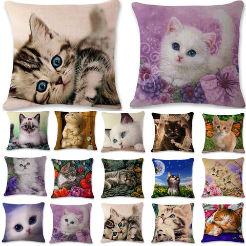 Cute Kitty Cushion Cover - Cats Love Life