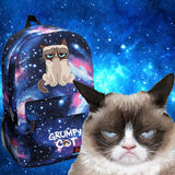 Grumpy Cat In Space Backpack - Cats Love Life