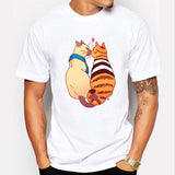 Men's Two Cats Kiss Design T-Shirt - Cats Love Life