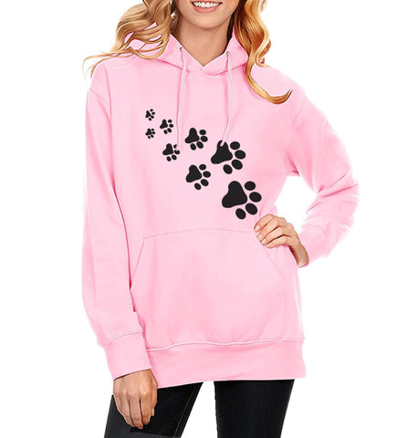 Paw Print Comfy Hoodie - Cats Love Life