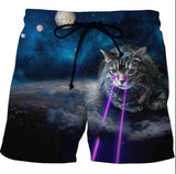 Laser Cat Swimsuit Shorts