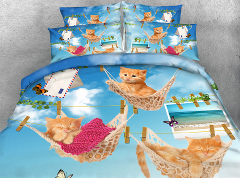 Cats Just Hanging Out On The Bedding Set - Cats Love Life