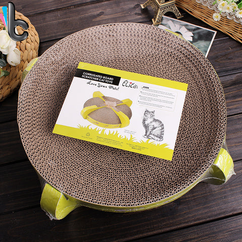 Two Sided Corrugated Board Scratcher Bowl - Cats Love Life