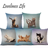 Yoga Cats Cushion Covers - Cats Love Life
