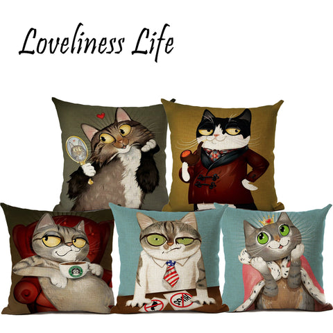 Cat Personality Cushion Covers - Cats Love Life