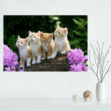 So Many Cute Cats On Soft Fabric Wall Print Posters - Cats Love Life