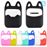 Hanging Cat Ears Silicone Rubber Bag Protective Cover Sleeve Case for Apple Airpods Charging Case - Cats Love Life