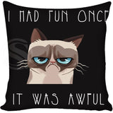 Grumpy Cat Pillowcase Covers In Many Styles - Cats Love Life
