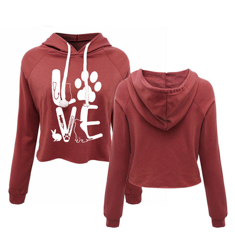 Love Paws Hoodie Sweat Shirt - Cats Love Life