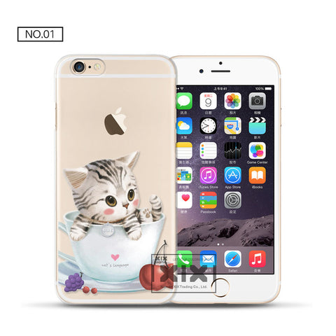 Cute Cats Soft Silicone TPU Cover For iPhone 5 5S 6 6S 7 8 Plus - Cats Love Life