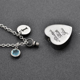 Heart Cremation Urn Necklace Engraved Always With You - Cats Love Life