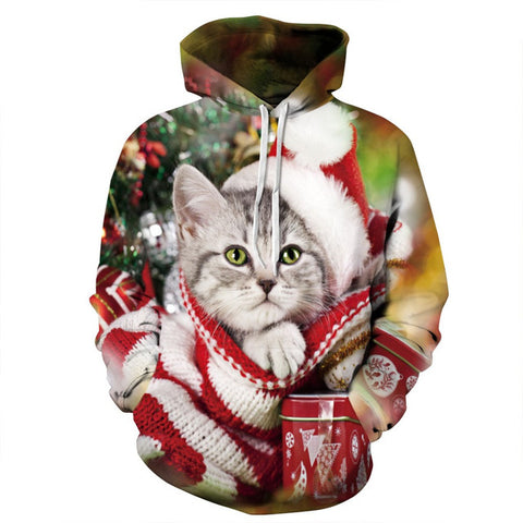 His And Hers Christmas Cat Hoodies - Cats Love Life