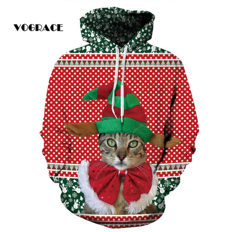 Christmas Styling Red Polka Dot Cat Hoodie - Cats Love Life