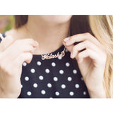 Personalized Name Necklace - Cats Love Life