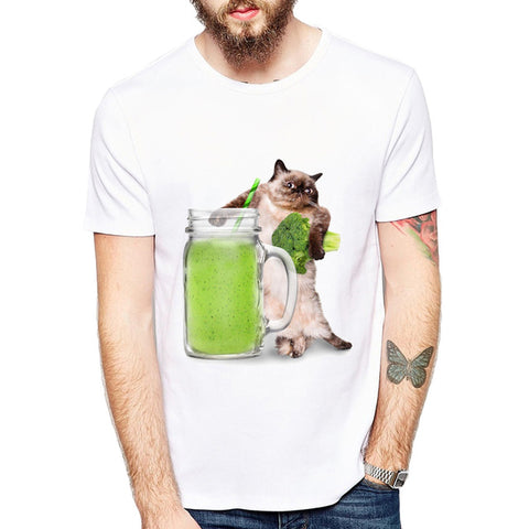 Cats Love Juice Vegetarian Cat Men's T-Shirt - Cats Love Life