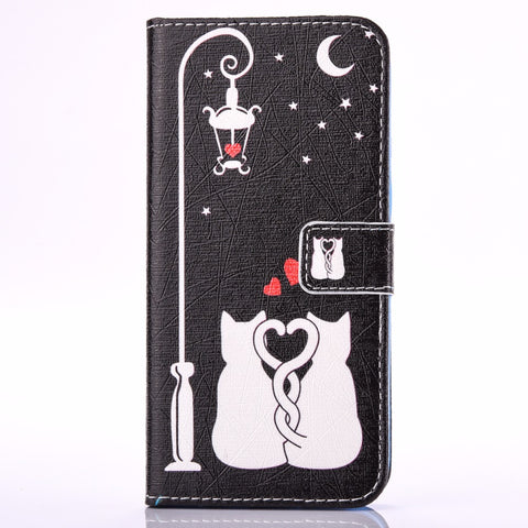 Flip Wallet Phone Case For Samsung Galaxy S6 S6 EDGE Plus S7 EDGE - Cats Love Life