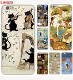 Cats With Hobbies Hard Cases For iPhone 4 4s 5c 5s 5 SE 6 6s 6/7/8 plus X - Cats Love Life
