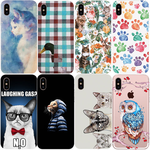 Cats And Others Soft TPU Silicone Cover For iPhone X 5 5S 6 6S 7 Plus 8 - Cats Love Life