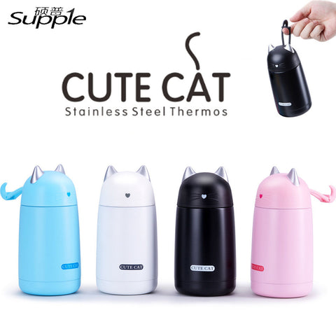 Stainless Steel Thermos Cat Mug - Cats Love Life