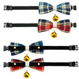 Plaid With A Bell Cat Bowtie Collar - Cats Love Life