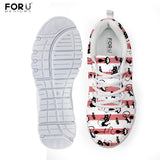 Fun Cat Prints Light Weight Walking Sneaker - Cats Love Life