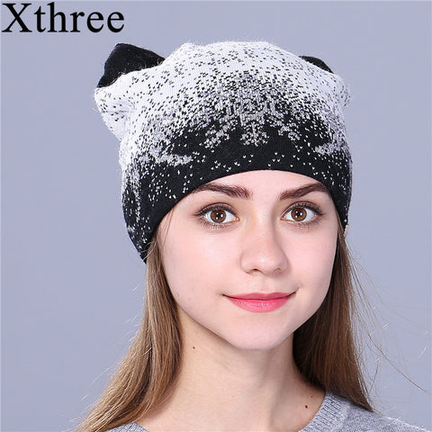 Kitty  Ears Wool Beanies - Cats Love Life
