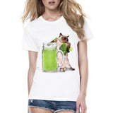 Cats Love Vegetable Juice Women's T-Shirt - Cats Love Life