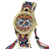Tie-Dye Golden Rhinestone Loving Heart Eyes Cat Watch - Cats Love Life