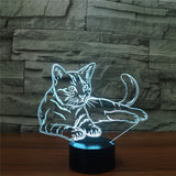 Sitting Cat 3D Night Light  7 Colors LED - Cats Love Life