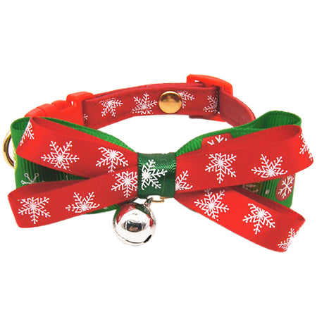 Christmas Snow Series Cat Bow Tie - Cats Love Life