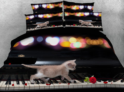 Dreamlike Cat Running On Piano Keys - Cats Love Life