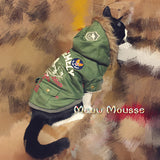 Warm Winter Cat Coat Fleece Inside Styling Look Outside - Cats Love Life