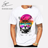 Cat At The Beach Men's T-Shirt In Many Colors - Cats Love Life