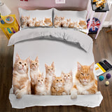 King and Queen Bed Sets In Many Cat Prints - Cats Love Life