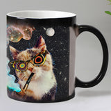 Funny Magic Ceramic Cat Mug Heat Sensitive Color Changing - Cats Love Life