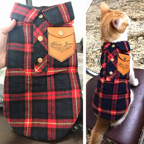 Plaid Cat Four Seasons Jacket - Cats Love Life