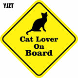 Cat Lover On Board Reflective Car Window Decal Sticker - Cats Love Life