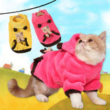 Soft Two Sided Fleece Cat Hooded Coat - Cats Love Life