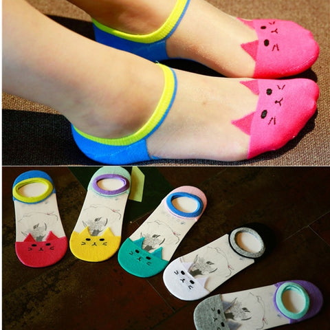Cute Cat Invisible Socks - Cats Love Life