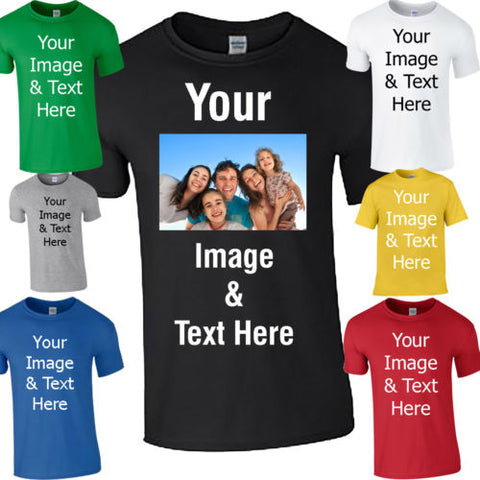 Custom Image And Text On T-Shirts - Cats Love Life