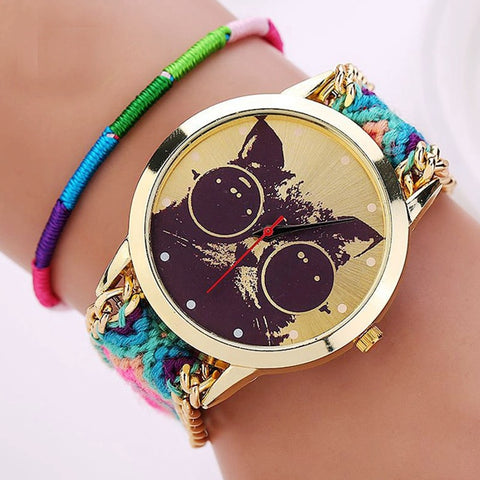 Retro Weaved Bracelet Watches