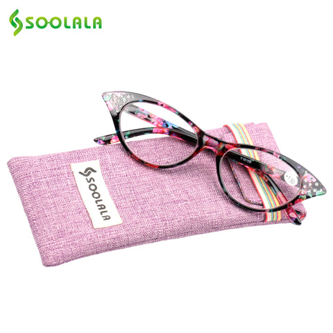Cat Eye Reading Crystal Eyeglasses +1.0 1.25 1.5 1.75 to 3.5