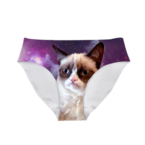 6ccedb270ec2 Grumpy Cat Panties Or Custom Photo Breathable Mid-Rise Underwear ...
