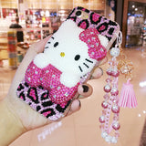Bling Rhinestone Hello Kitty Phone Case For iPhone 7 7 Plus, iPhone X, 6 6s 6Plus, 8 8plus