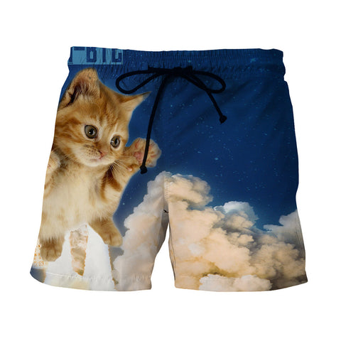 Cloud Cat Swimsuit Shorts