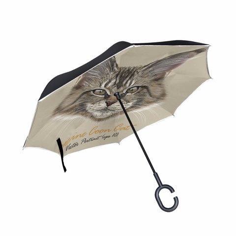 The Maine Coon Double Layer Windproof Oversized Umbrella