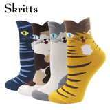 Funny Cute Colorful Striped Ankle Socks